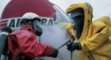 employees training for respiratory protection